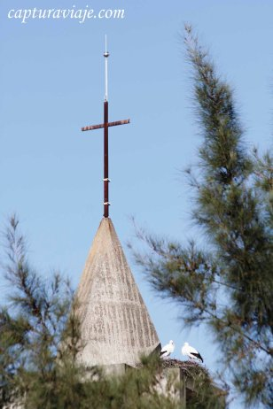 Castellar Pueblo Nuevo - Cigüeñas en Iglesia