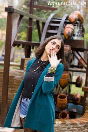 Moda complementos - Parque María Cristina - Algeciras - Inés Yáñez - Pose noria II