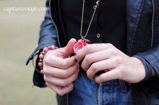 Una rosa entre las manos