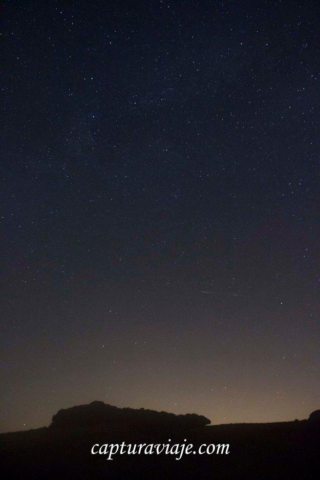 Eta Acuáridas 2013 - Estrella fugaz y neblina capturadas