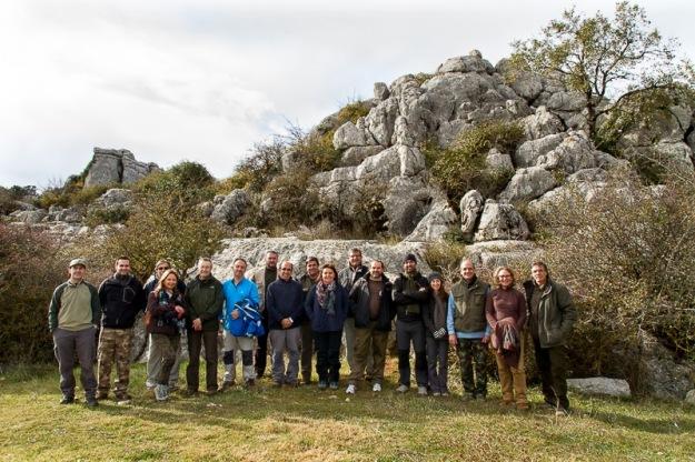Foto grupal convivencia e el Torcal - Foto realizada por Vicente Laguna