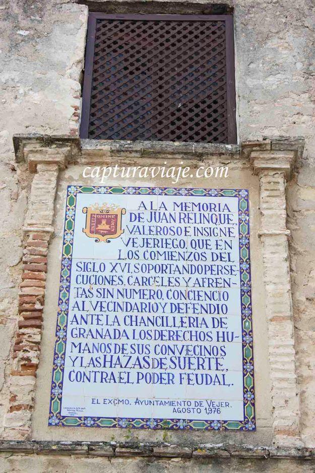 67 - Vejer de la Frontera - A la memoria de Juan Relinque - M