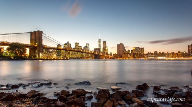 Brooklyn Bridge desde Main Street Park - I - New York