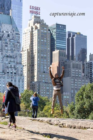 David saltando en Central Park - Manhattan - New York