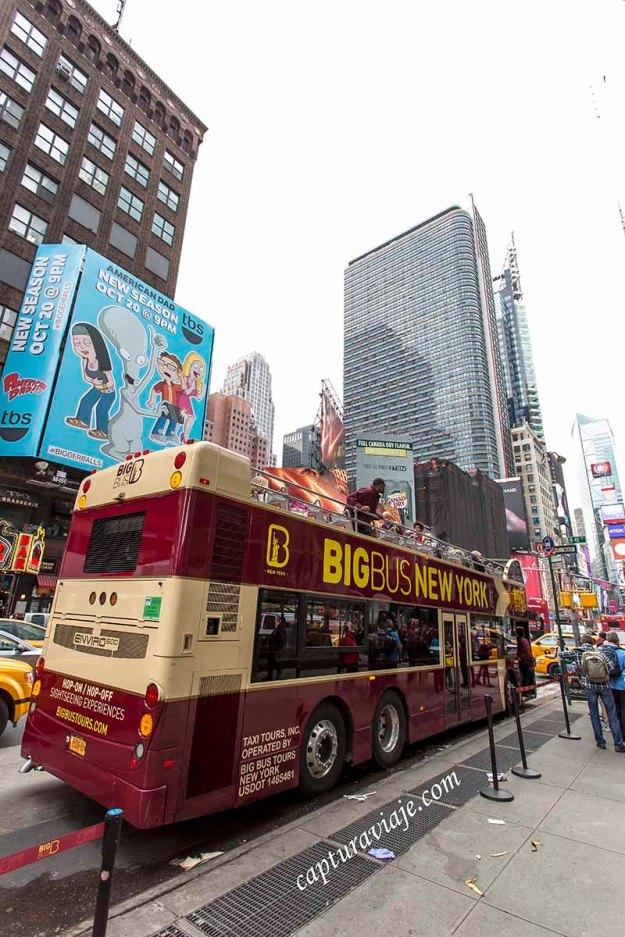 Uno de los autobuses turísticos de NYC - Manhattan - New York